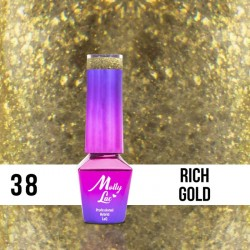 LAKIER MOLLY LAC QUEENS OF LIFE RICH GOLD 5ml nr38