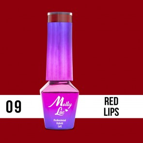 LAKIER MOLLY LAC GLAMOUR WOMAN RED LIPS 5ml nr 9