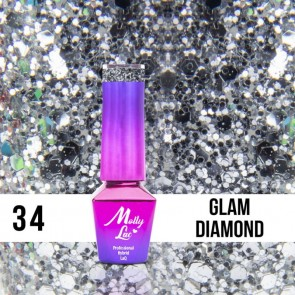 LAKIER MOLLY LAC QUEENS OF LIFE GLAM 5ml nr 34